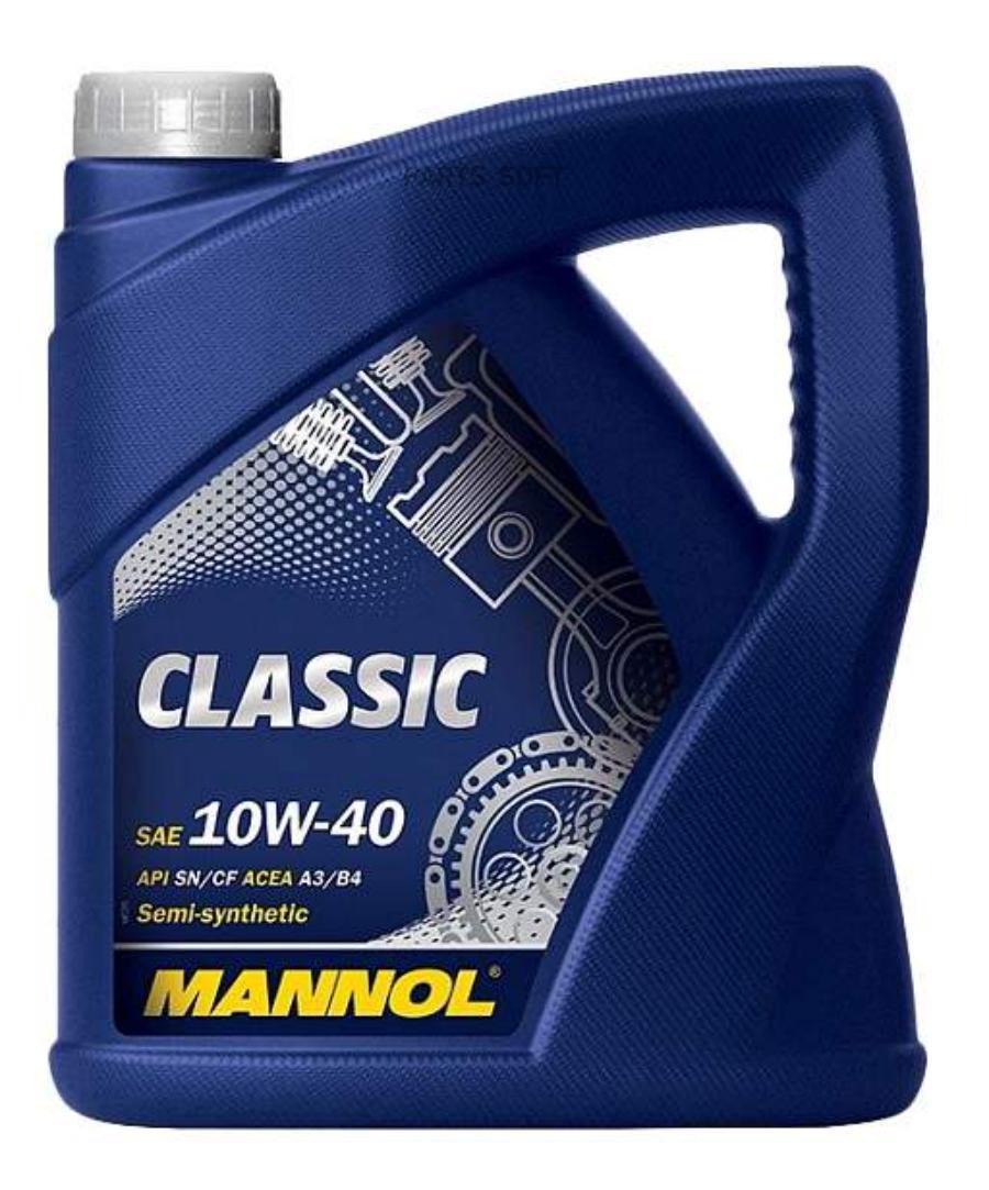 Масло моторное MANNOL CLASSIC 10W-40 (4 л.) полусинтетика