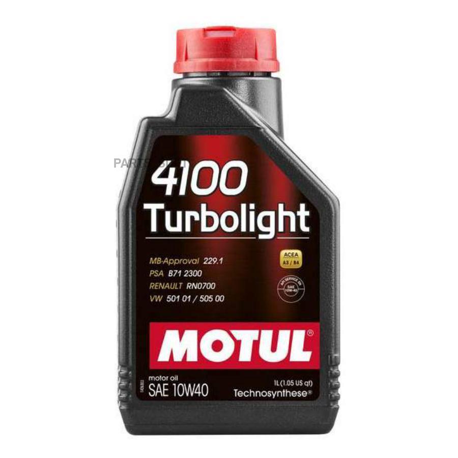 Масло моторное MOTUL 4100 Turbolight 10W-40 (1 л.)  полусинтетика