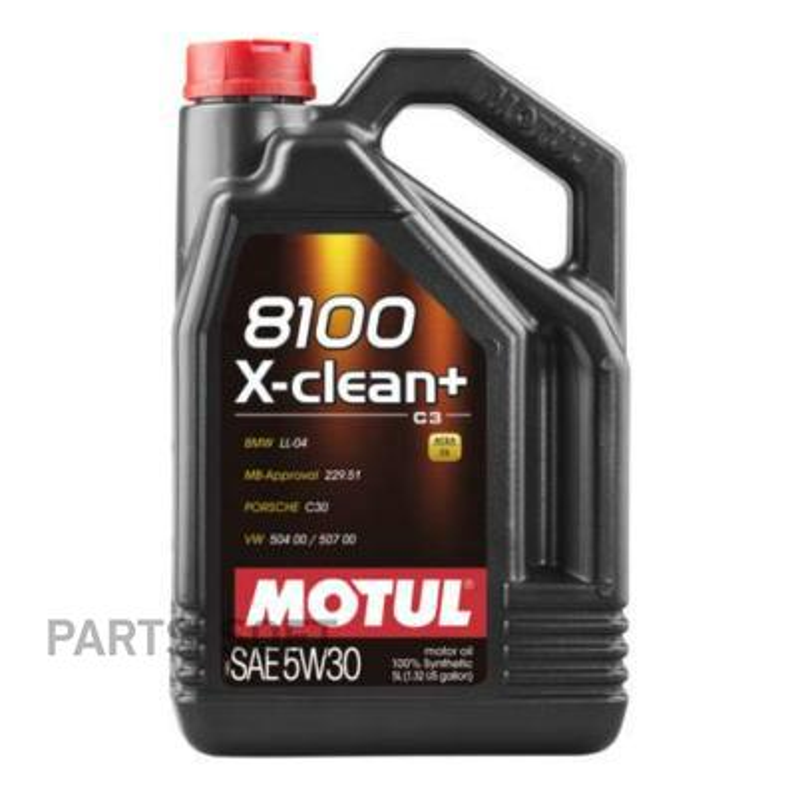 Масло моторное MOTUL 8100 X-Clean+ 5W-30 (5 л.) синтетика