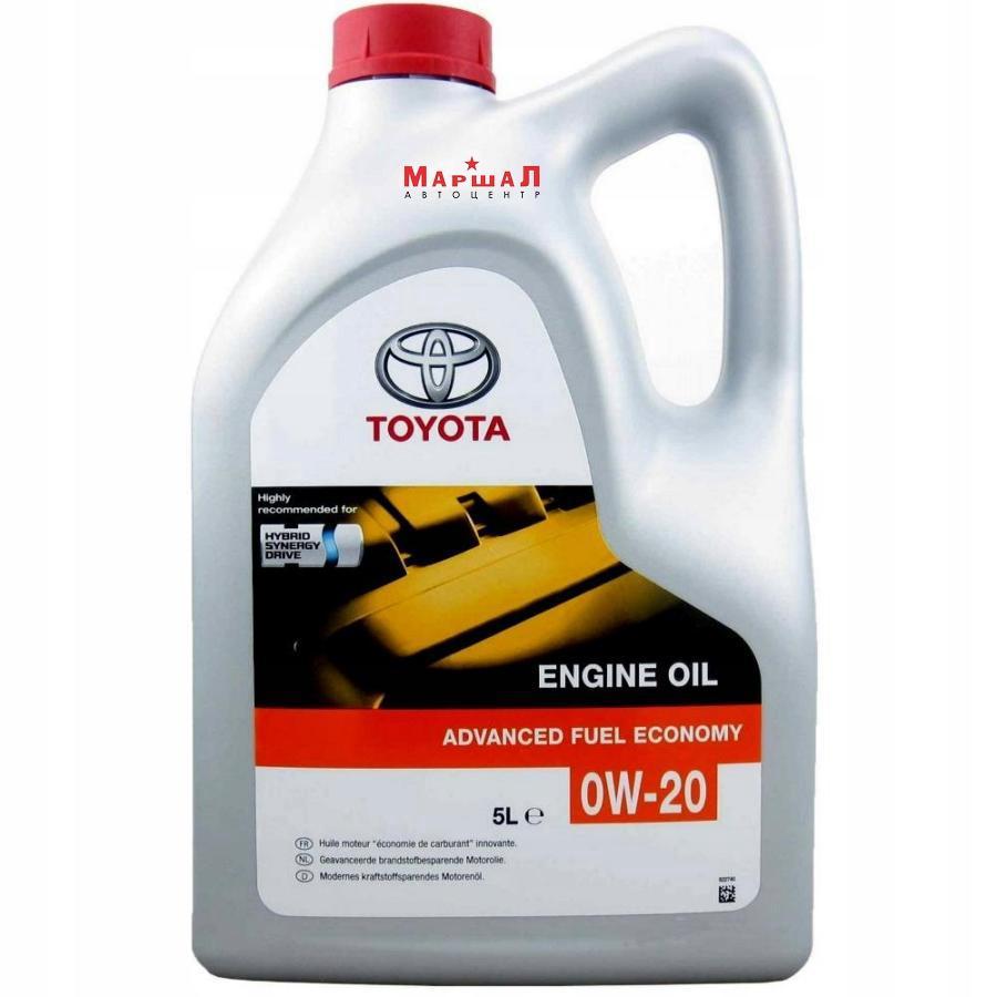 Моторное масло TOYOTA AFE SAE 0W-20 (5л) EU