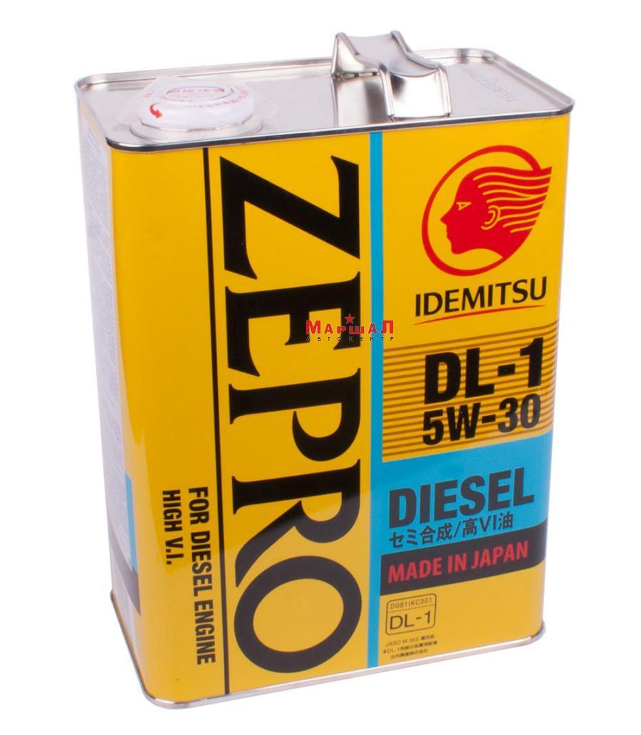 Масло моторное полусинтетическое Zepro Diesel DL-1 5W-30, 4л