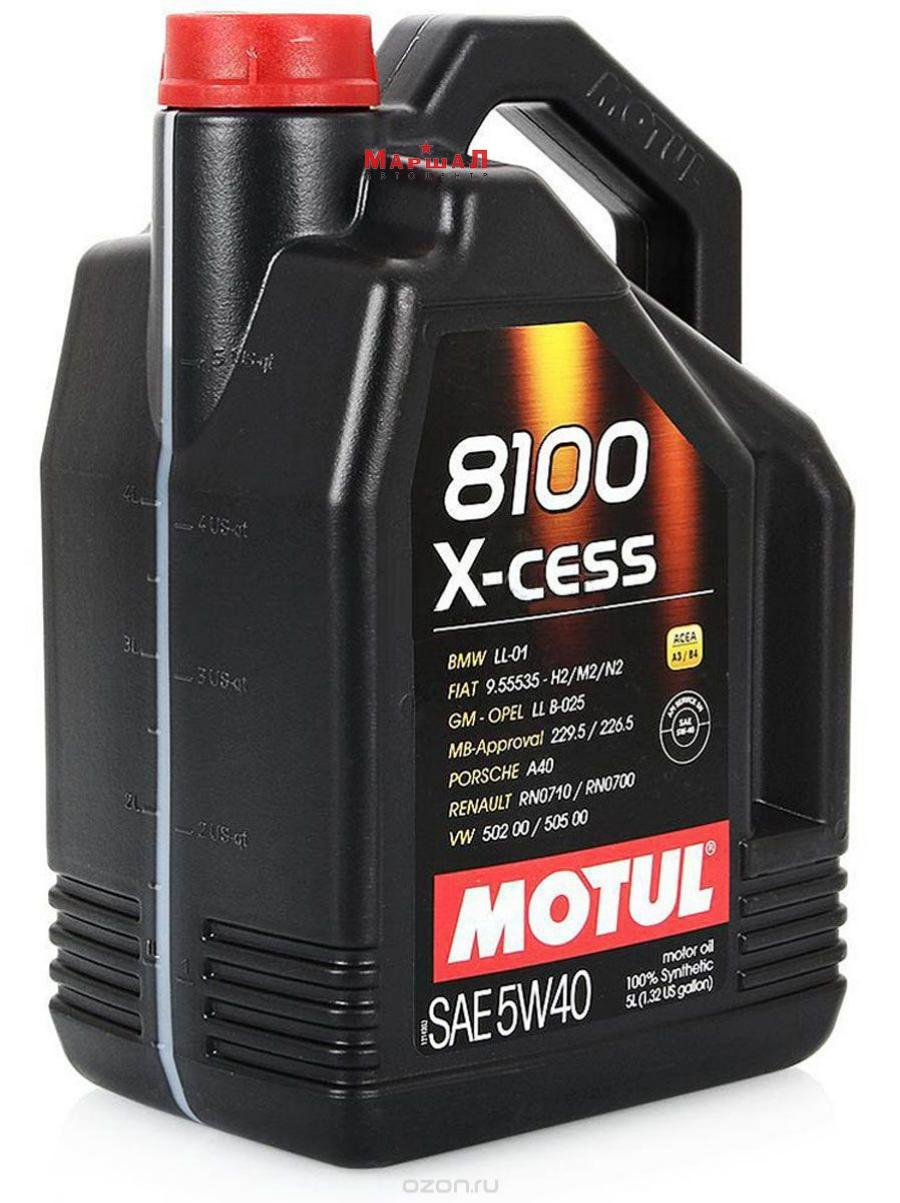 MOTUL 109776 Масло моторное Motul 8100 X-cess A3/B3/B4 5W40 синтетическое 5 л 109776