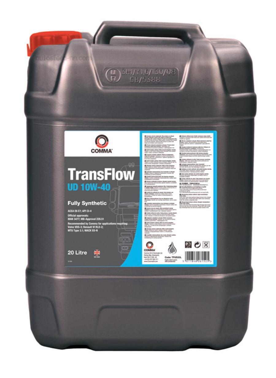 Масло моторное синтетическое TransFlow UD 10W-40, 20л