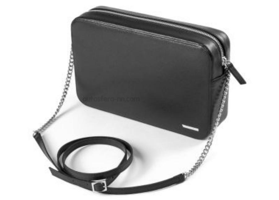 Дамская кожаная сумочка Skoda Leather Women?s Shoulder Handbag Black