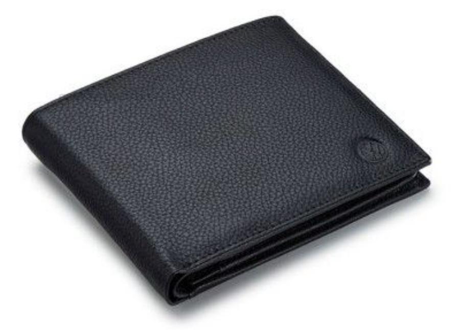 Кожаный кошелек унисекс Volkswagen Unisex Leather Wallet Black