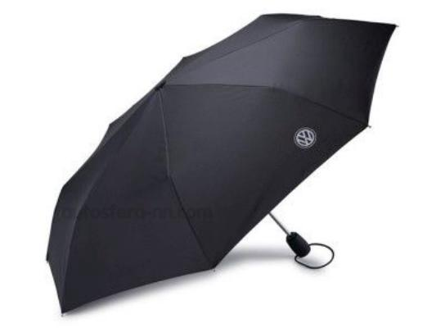 Складной зонт Volkswagen Logo Compact Umbrella Black