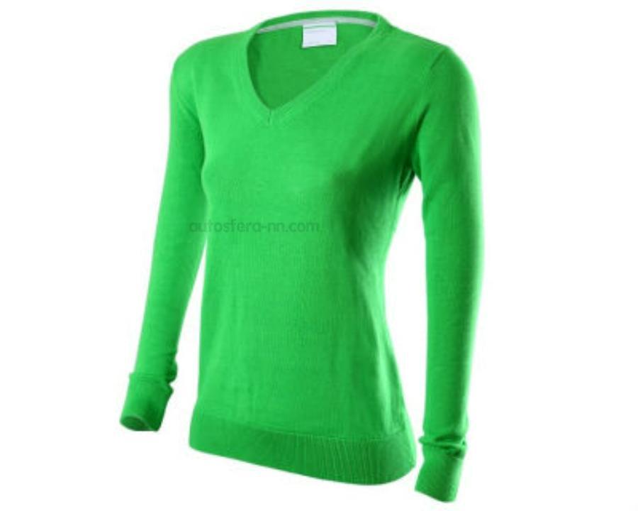Пуловер женский зеленый S