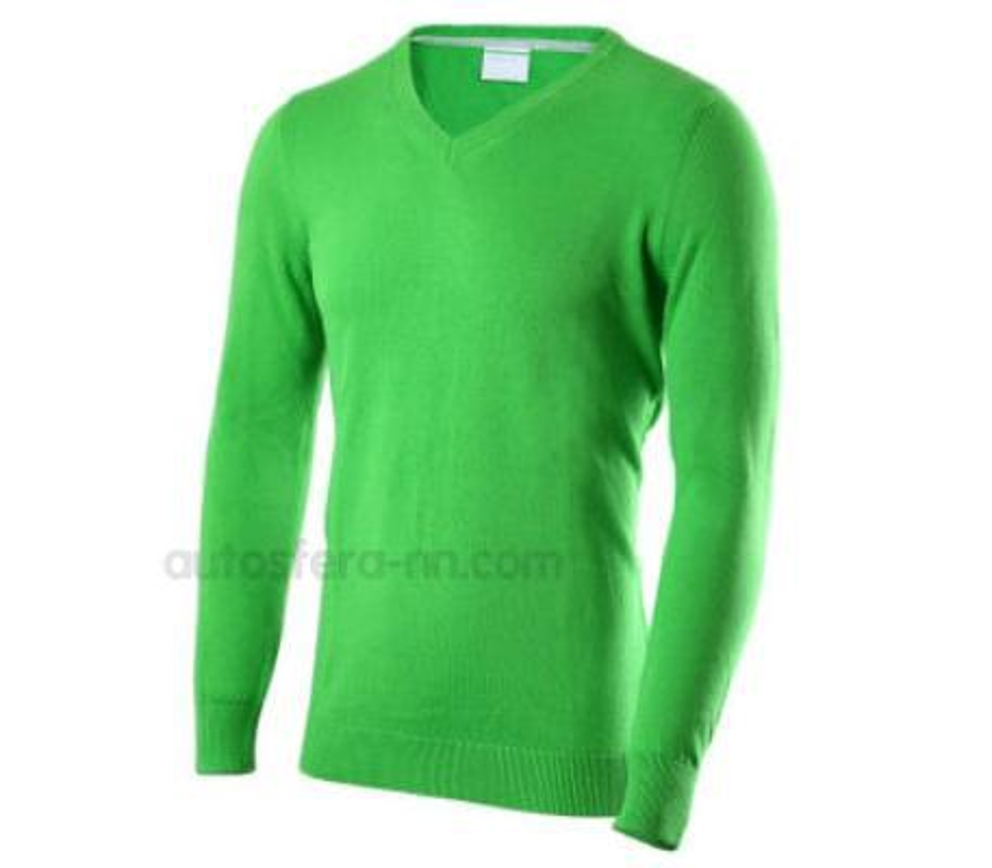 Мужской пуловер зеленый L
