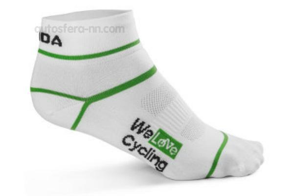 Носки унисекс Skoda Sport Socks We Love Cycling White