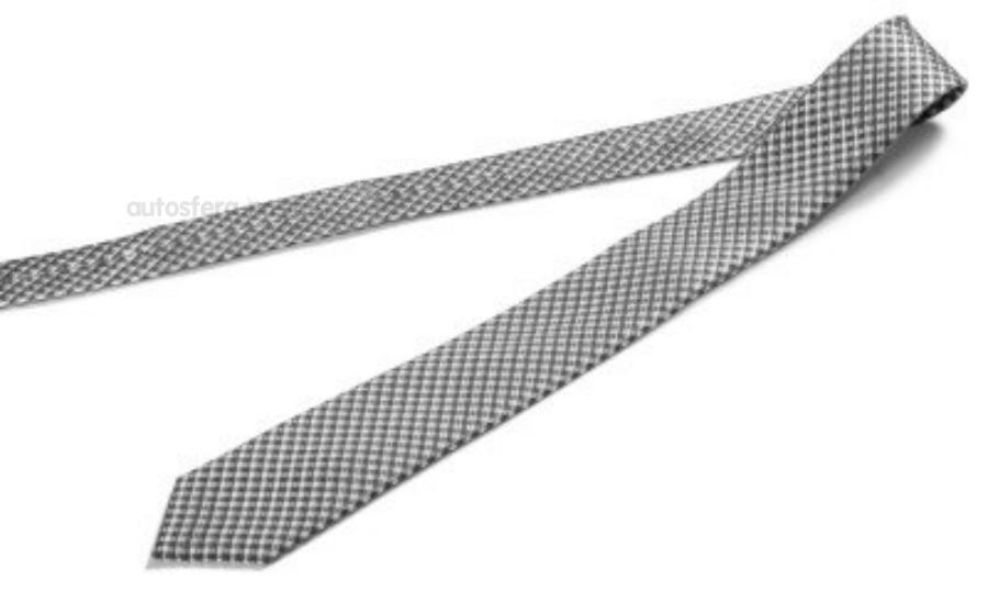 Шелковый галстук Skoda Silk Tie Grey