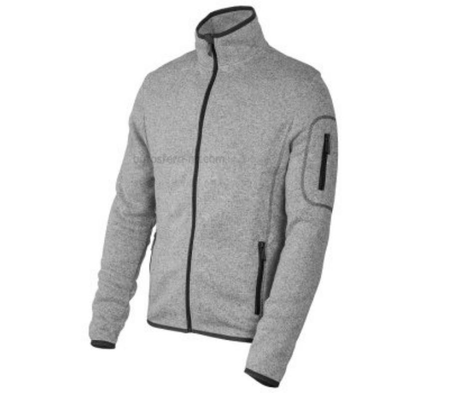 Мужской свитер на молнии Skoda Mens Sports Sweater Grey