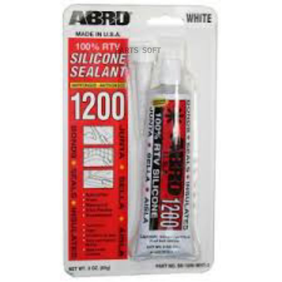 Abro герметик силиконовый (черный) 310 мл ss-1200