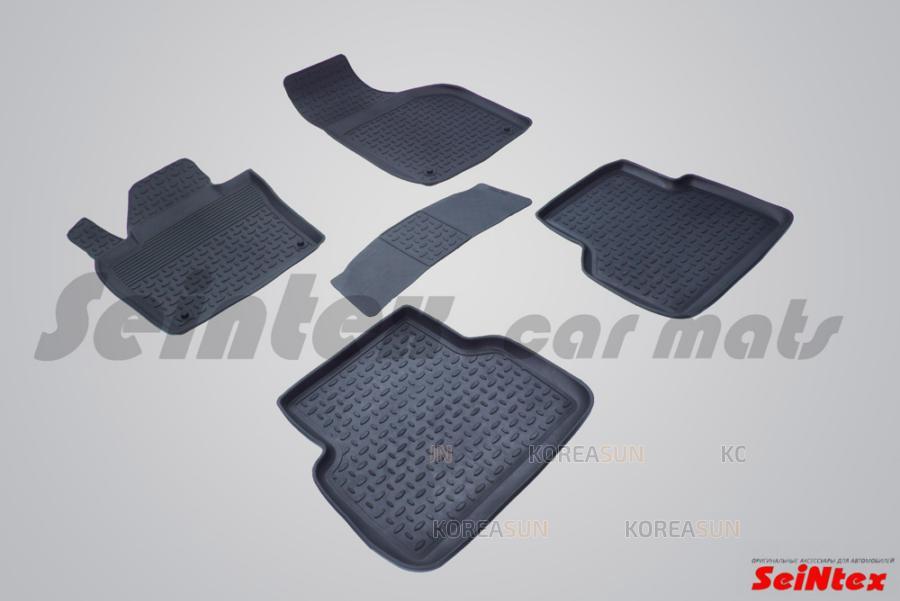 Резиновые коврики с высоким бортом для Audi Q3 2011-н.в.