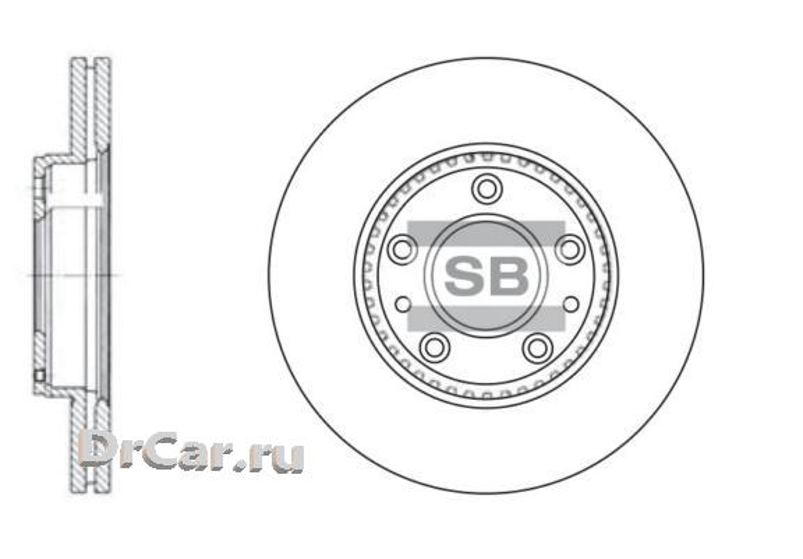 Диск тормозной SD4406 SANGSIN SD4406