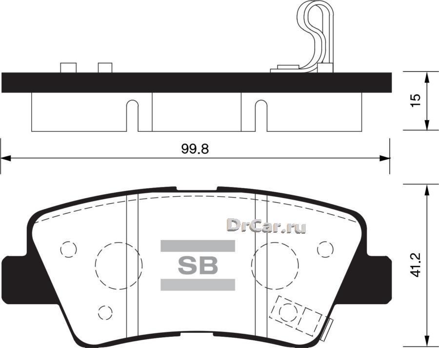 Тормозные колодки дисковые SP1239 SANGSIN BRAKE SP1239