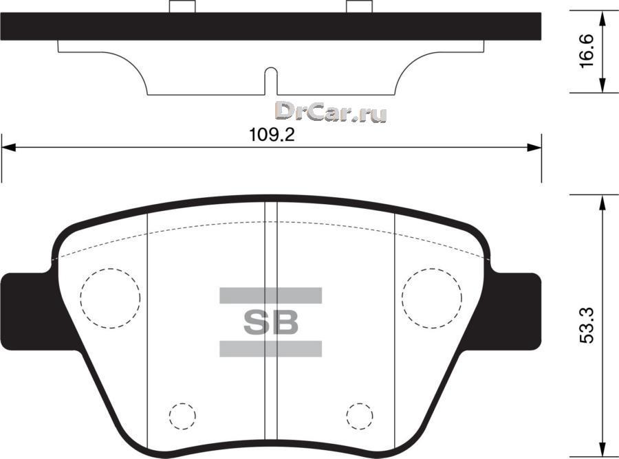 Колодки тормозные задние SP2314