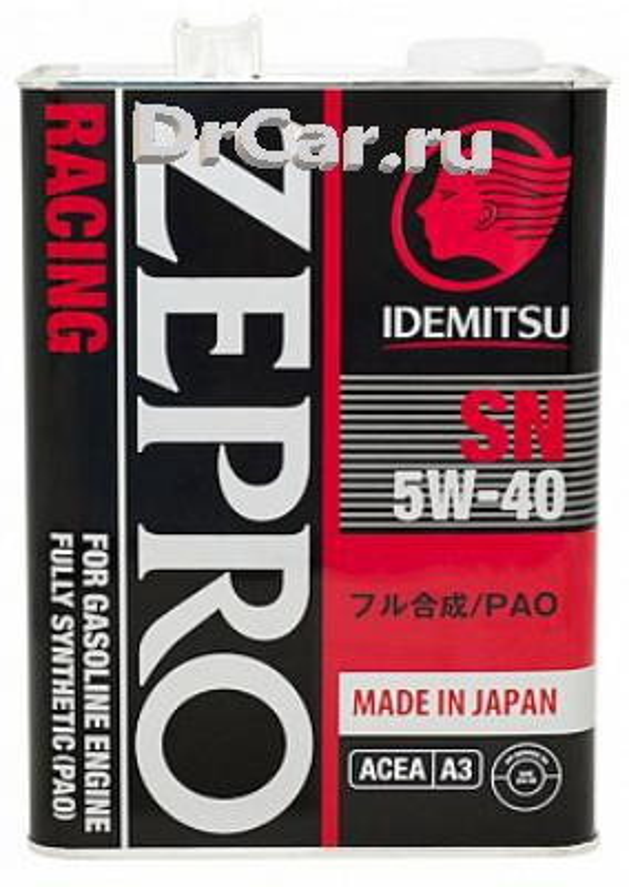Моторное масло IDEMITSU Zepro Racing SAE 5W-40 (4л)
