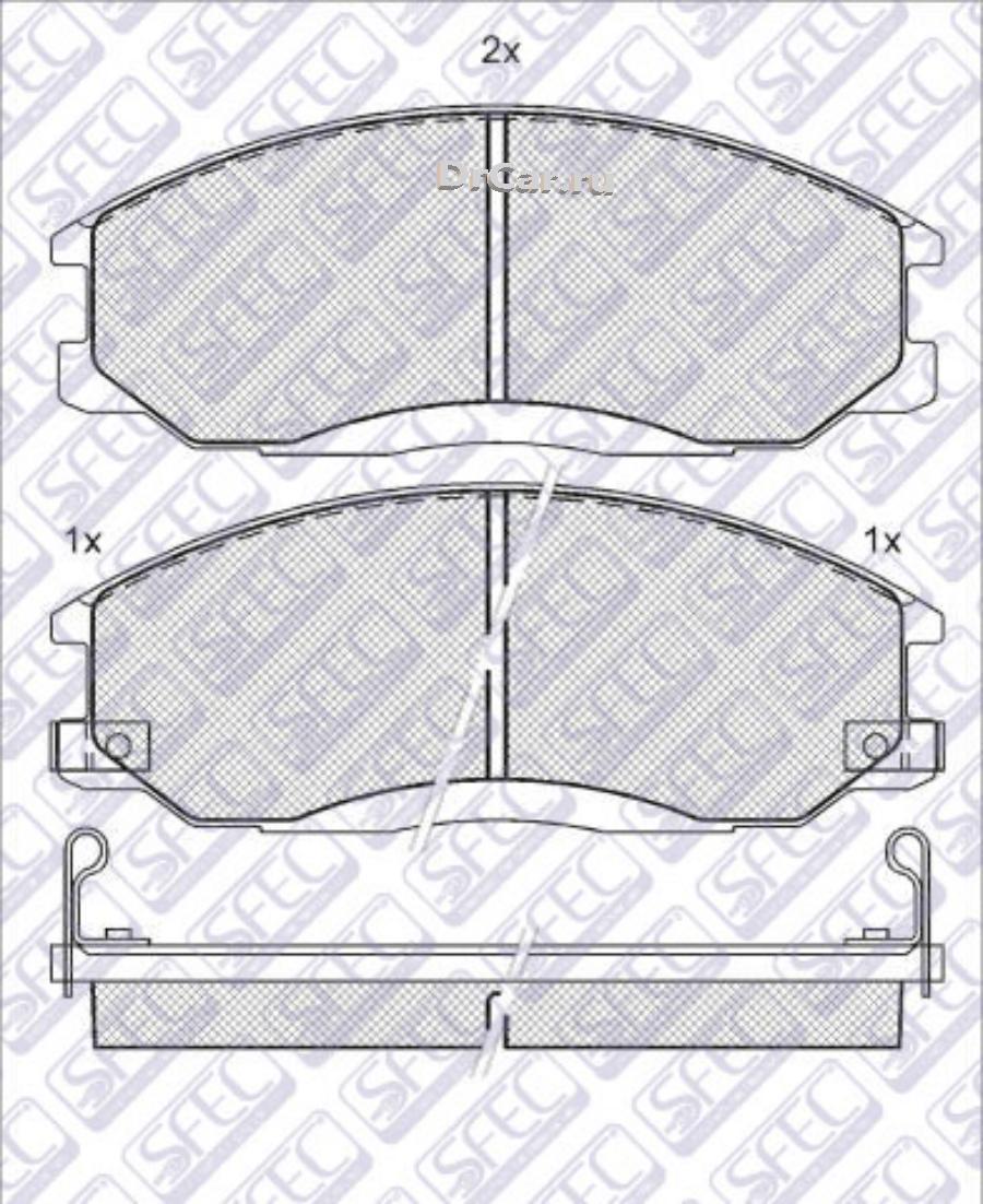 Тормозные дисковые колодки  передние с органической пластиной AUTOSFEC