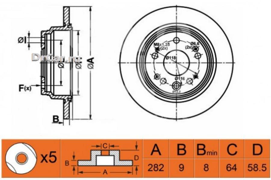 Диск тормозной задний HONDA CR-V II 02-06 D292мм RN1460 NIBK RN1460