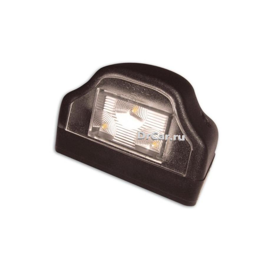 Лампа освещения номерного знака (Черная, LED 12/24V)