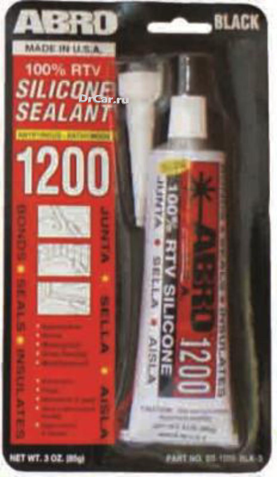 Abro герметик силиконовый (черный) ss1200 85 гр