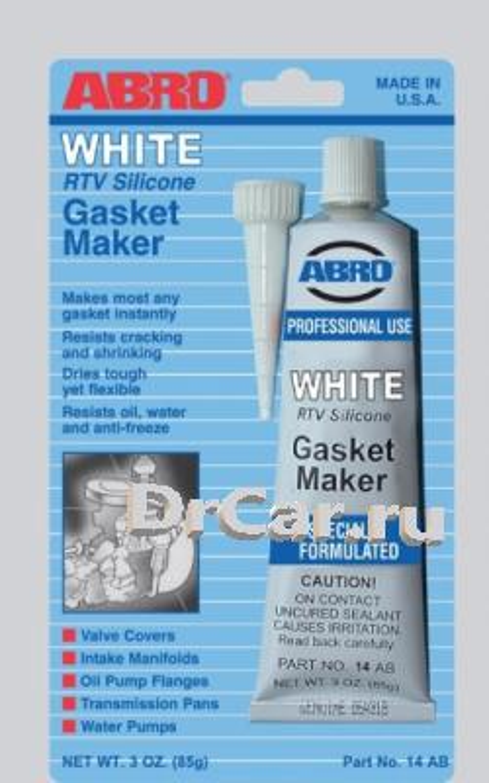 Abro герметик прокладок стандартный (белый) 85 гр