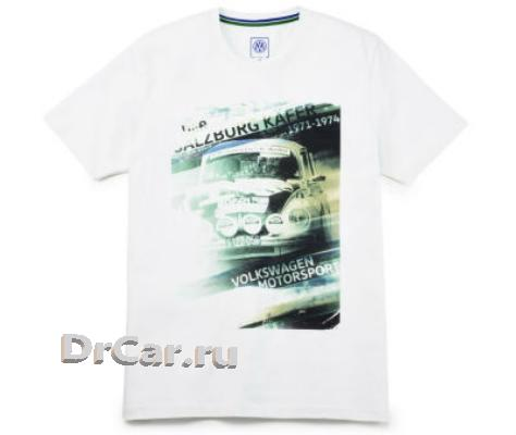 Мужская футболка Volkswagen Motorsport T-Shirt Salzburg Beetle Mens Off White