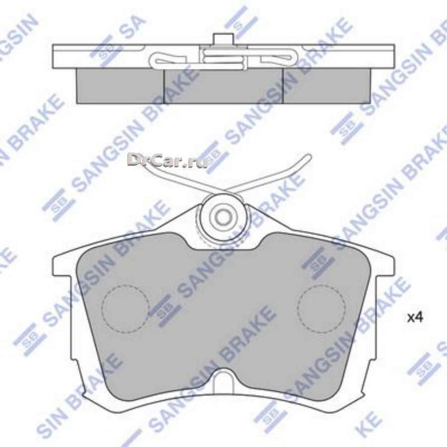 Колодки тормозные задние SP1635