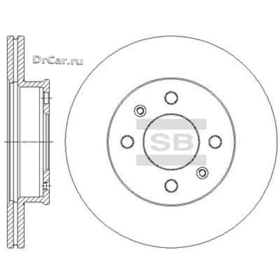 SD1090_диск тормозной передний!\ Hyundai Getz all 02> SANGSIN SD1090