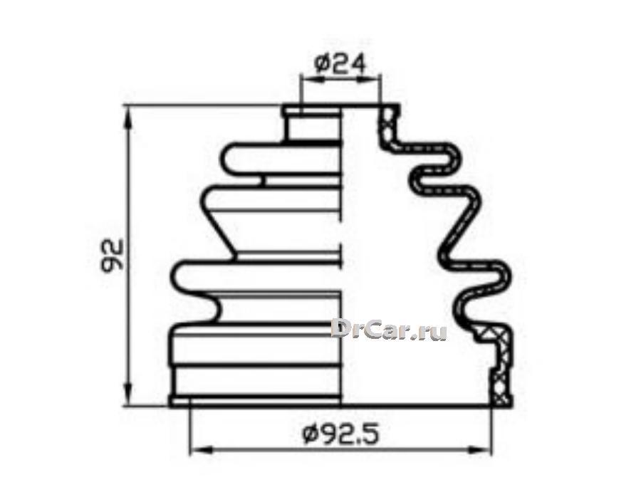 Пыльник привода (ТА); TACB1031