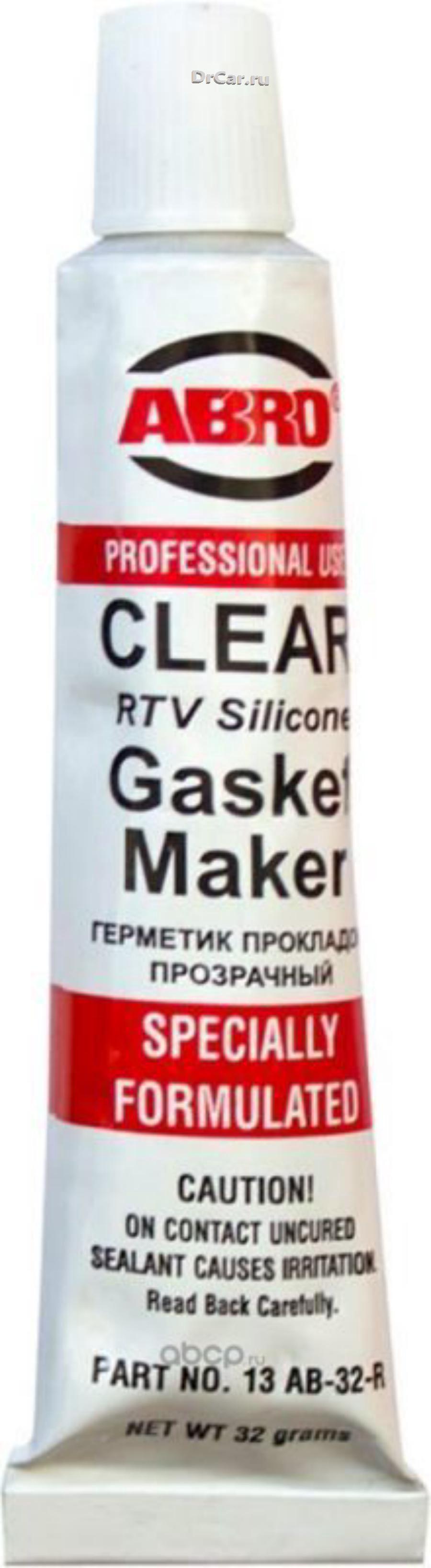 Герметик силиконовый прозрачный 32 г ABRO 13-AB-CH-32R ABRO 13ABCH32R