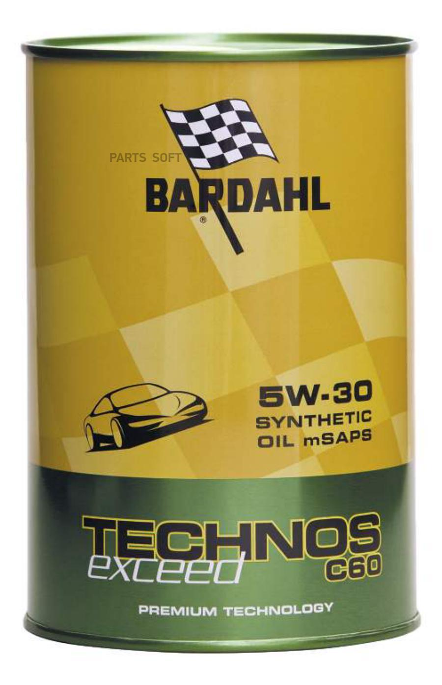 Масло моторное синтетическое TECHNOS C60 5W-30, 1л