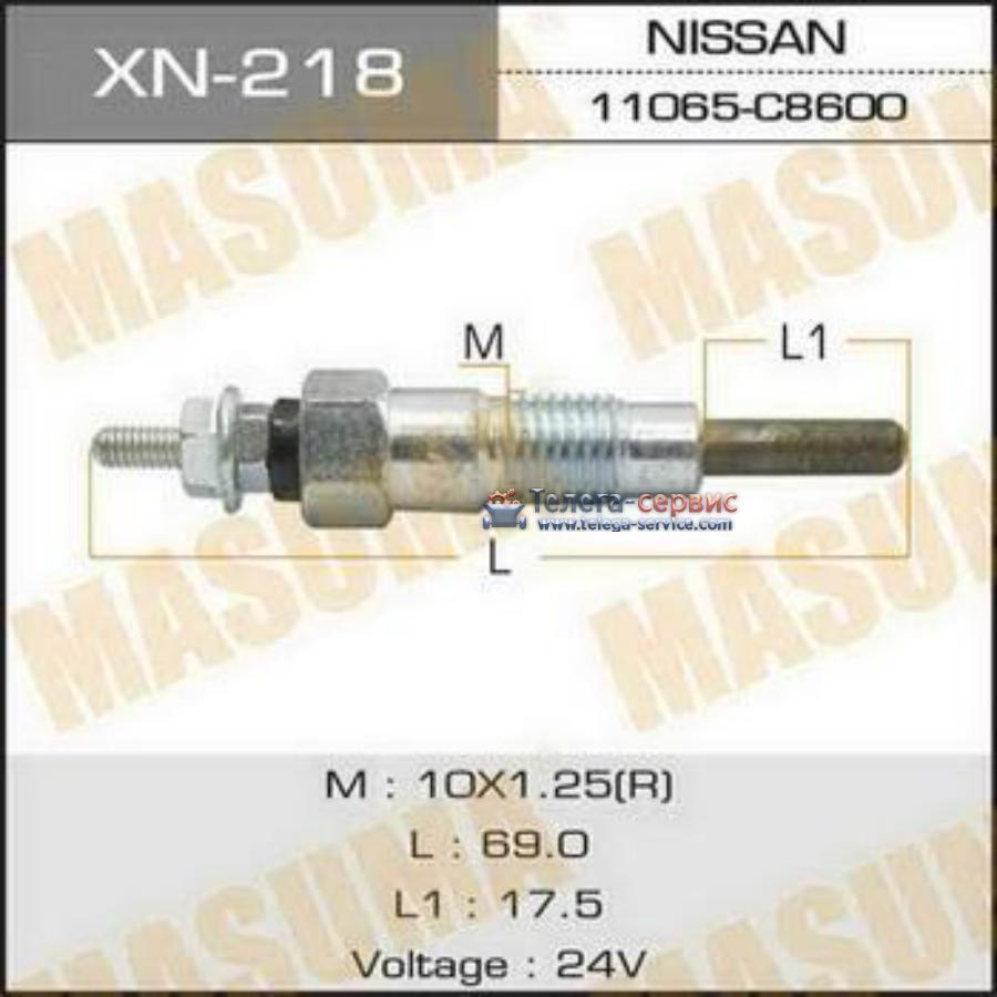 Свеча накаливания  PN-131 /SD23, SD25   (1/10/100)