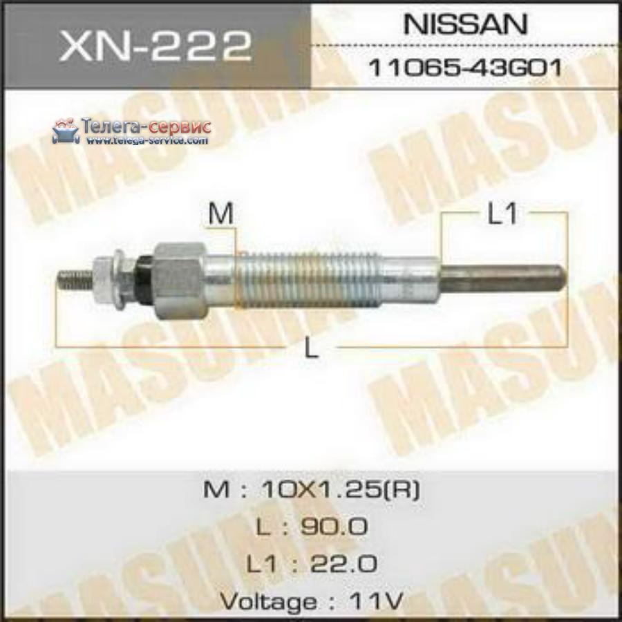 Свеча накаливания  PN-135 /TD27   (1/10/100)