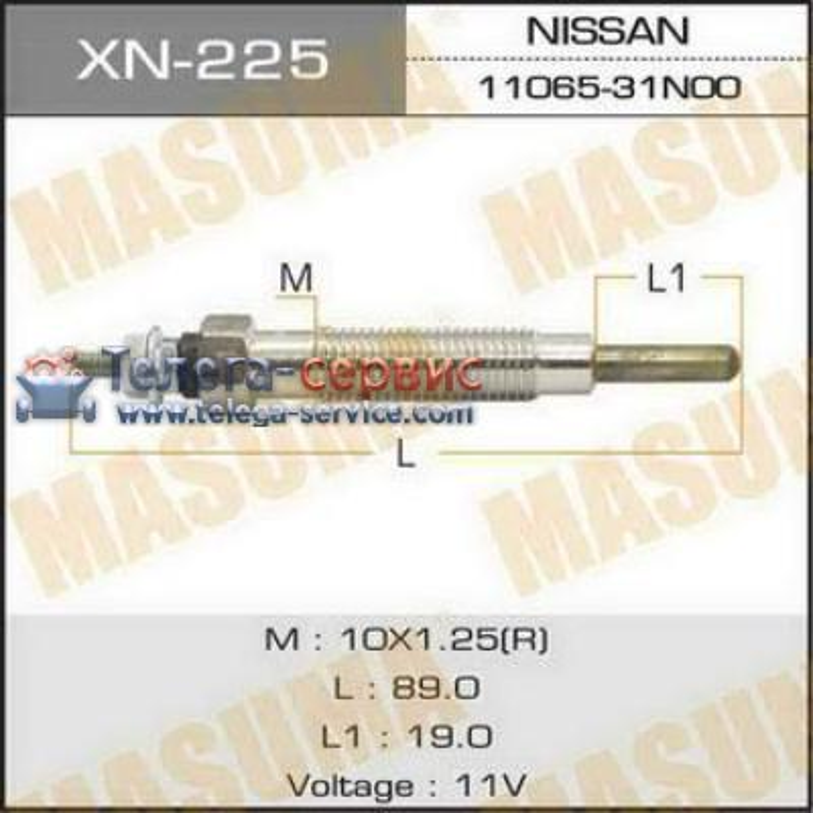 Свеча накаливания  PN-138 /TD27, TD42   (1/10/100)