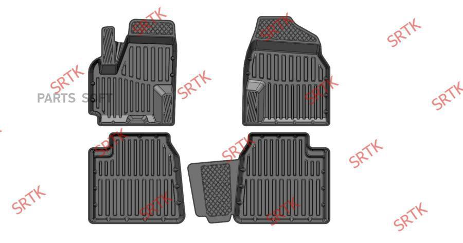 Коврики резиновые в салон 3D STANDART для Lifan x60 (2011-)