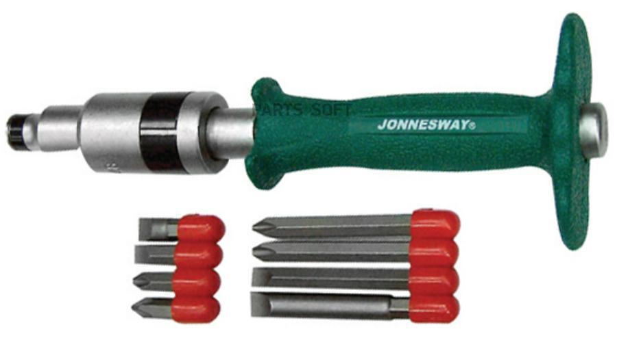 Набор ударных отверток SL 8, 10 (36, 80 мм), PH# 2, 3 (36, 80 мм), 5 предметов