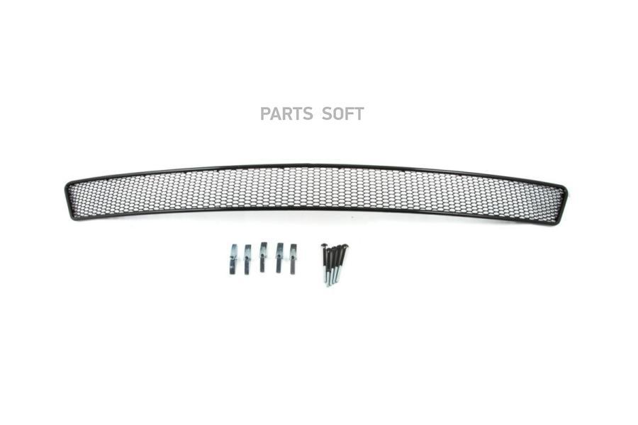Сетка на бампер внешняя для KIA Ceed 2016->, черн., 20 мм (сота)