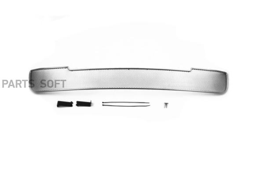 Сетка на бампер внешняя для KIA Picanto 2015-2016, 2 шт., хром, 20 мм (сота)