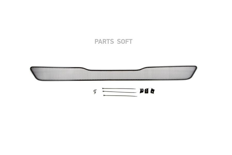 Сетка на бампер внешняя для INFINITI QX70 3,7 л. 2014->, черн., 10 мм