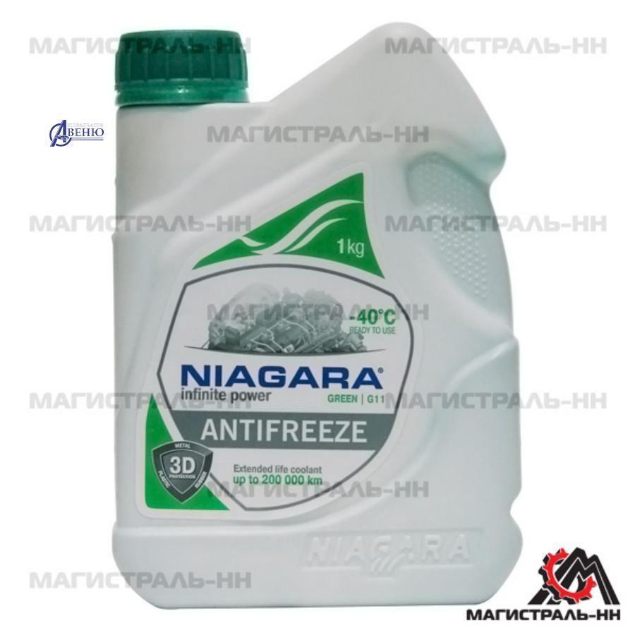 Антифриз Niagara Green G11 (зеленый), 1 л