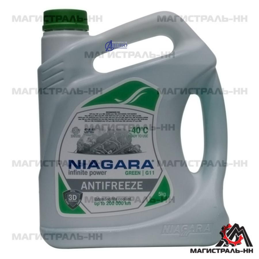 Антифриз Niagara Green G11 (зеленый), 5 л