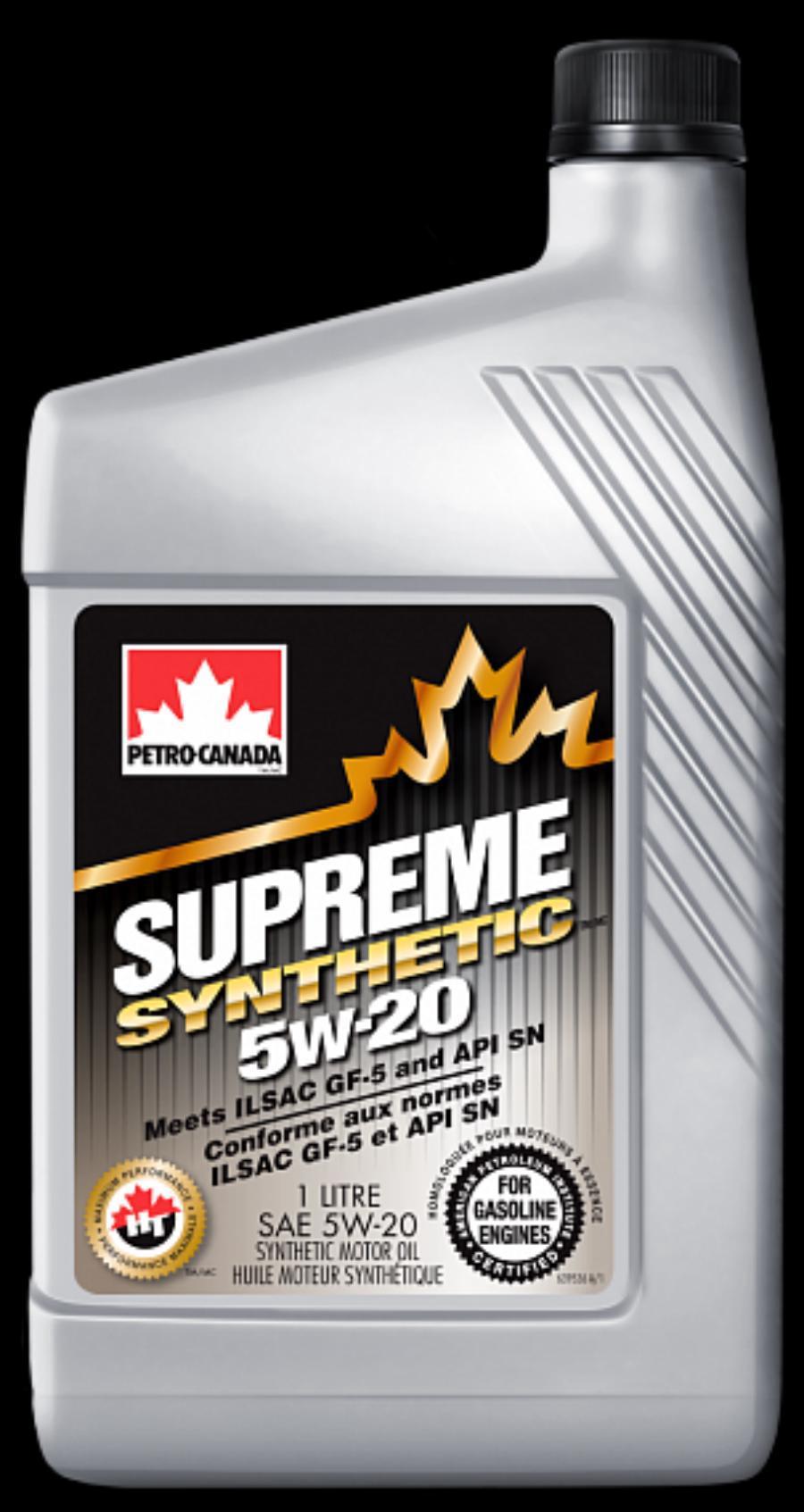 Petro-Canada моторное масло для бензиновых двигателей SUPREME SYNTHETIC 5W-20 (12*1 л)