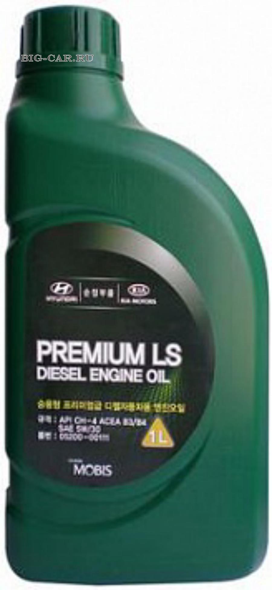 Масло моторное полусинтетическое Premium LS Diesel 5W-30, 1л