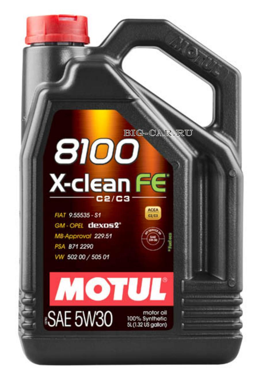Масло моторное синтетическое 8100 X-Clean FE 5W-30, 5л