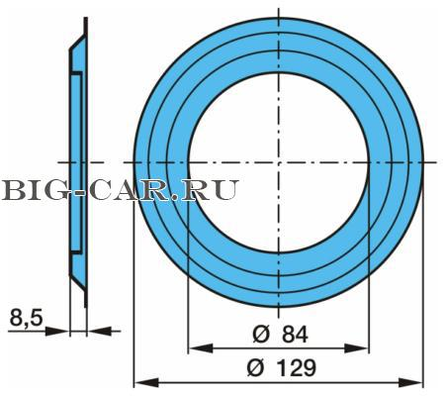 шайба ступицы под  маслоотраж 84x128x8.5 \BPW ECO 6.5-9T