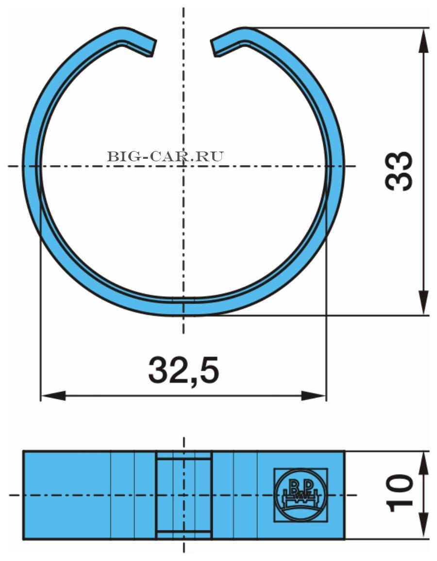 Кольцо стопорное 33/30x10/9.5 сталь; H Series (SN 42..); K Series (SN 36..); N Series (SN 30..)