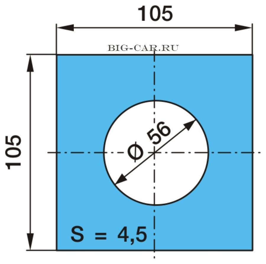 Пластина полурессоры регулировочная 105*105*4,5. BPW