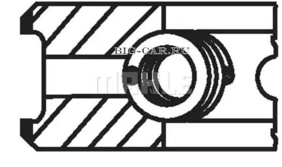 Кольца поршневые STD d=102 3x2.5x4 \MB OM904,OM906