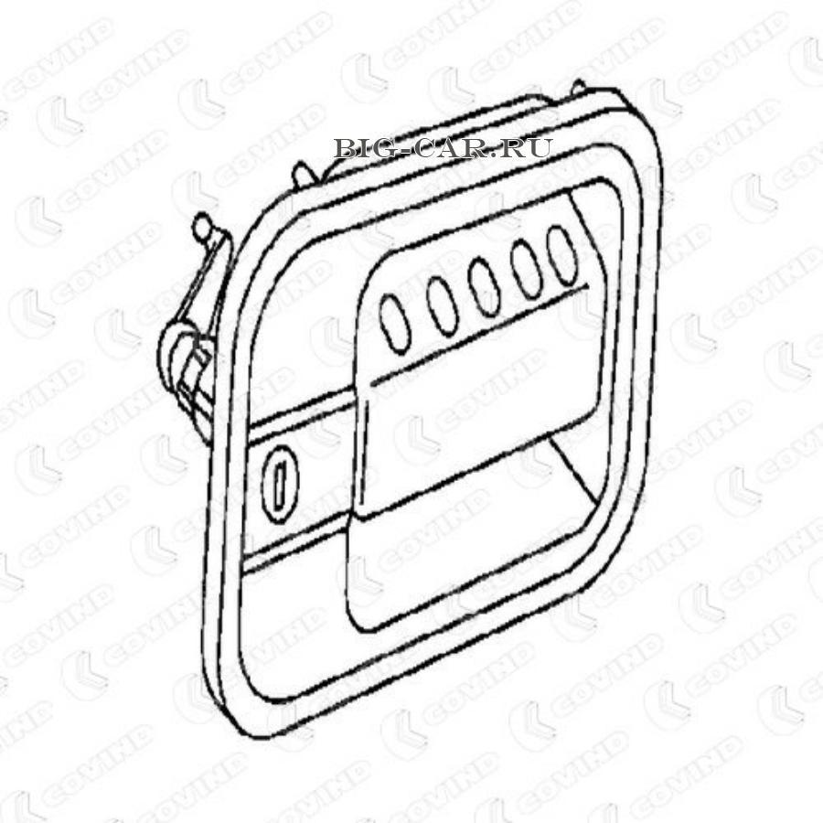 Ручка двери левая в сборе с ключами IVECO ET/ES/Eurocargo